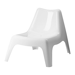 IKEA PS VÅGÖ - Easy chair, outdoor, white