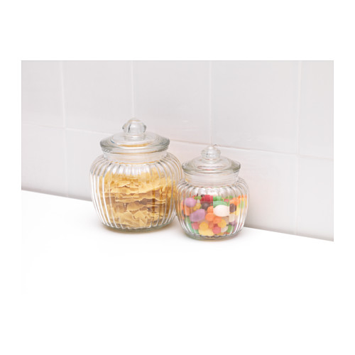 KAPPROCK jar with lid