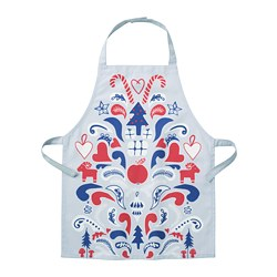 VINTERFEST - Children's apron, patterned grey