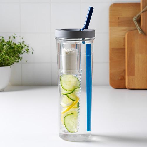 UPPLADDA botol infused water dengan sedotan