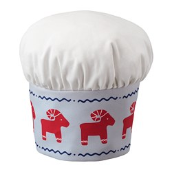 VINTERFEST - Children's hat, patterned/red white