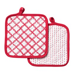 VINTERFEST - Pot holder, patterned white/red