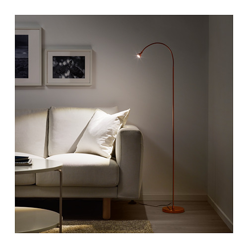 JANSJÖ lampu lantai/baca LED
