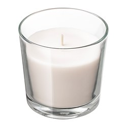 SINNLIG - Scented candle in glass, Sweet vanilla/natural