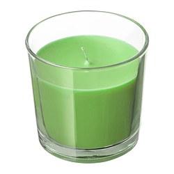 SINNLIG - Lilin beraroma dalam gelas, Apel dan pear/hijau