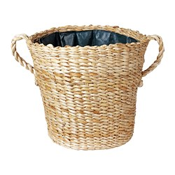 BOTANISK - Pot tanaman, serat pisang buatan tangan