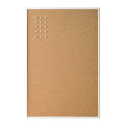 VÄGGIS - Memo board with pins, white