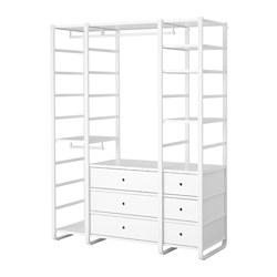 ELVARLI - 3 bagian, putih, 165x55x216 cm