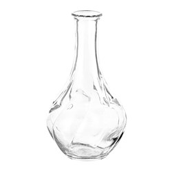 VILJESTARK - Vase, clear glass