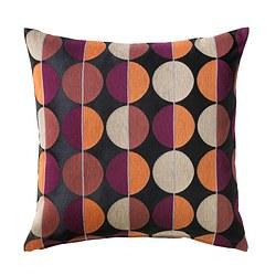 OTTIL - Sarung bantal kursi, hitam/aneka warna