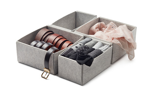 KOMPLEMENT - kotak, set isi 4, abu-abu muda, 40x54 cm | IKEA Indonesia - PH167268_S4