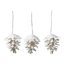 VINTERFEST - Hanging decoration, cone white