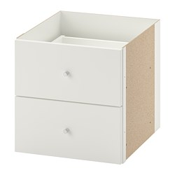 KALLAX - Insert with 2 drawers, white