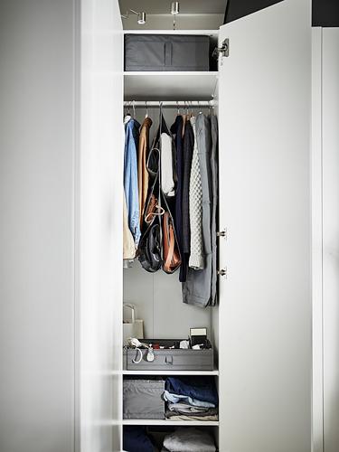 SKUBB - kotak dengan kompartemen, abu-abu tua, 44x34x11 cm | IKEA Indonesia - PE795078_S4