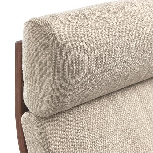 POÄNG - kursi berlengan, cokelat/Hillared krem | IKEA Indonesia - PE628984_S4