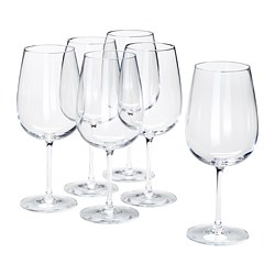 STORSINT - Red wine glass, clear glass