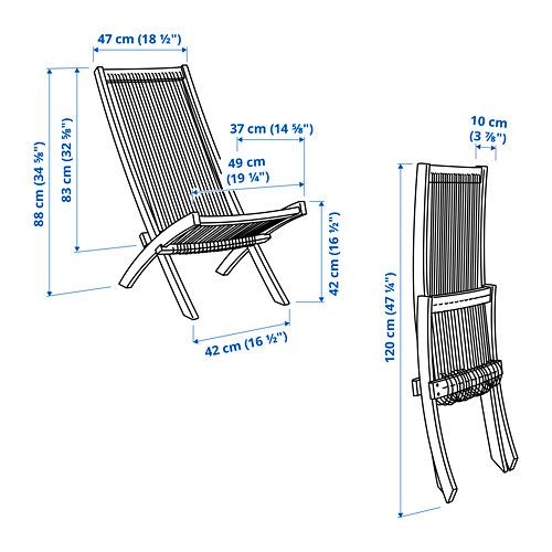 BROMMÖ kursi santai, luar ruang