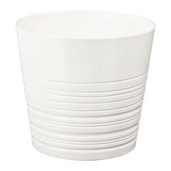 MUSKOT - Pot tanaman, putih
