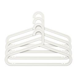 BAGIS - Hanger, in/outdoor, white, 4 pieces