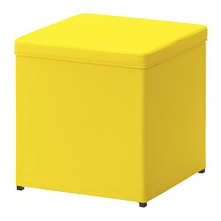 BOSNÄS - Footstool with storage, Ransta yellow