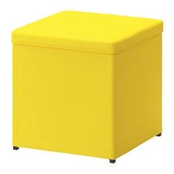 BOSNÄS - Bangku kaki dengan penyimpanan, Ransta kuning