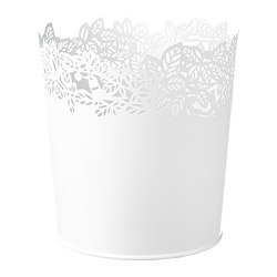 SAMVERKA - Plant pot, white