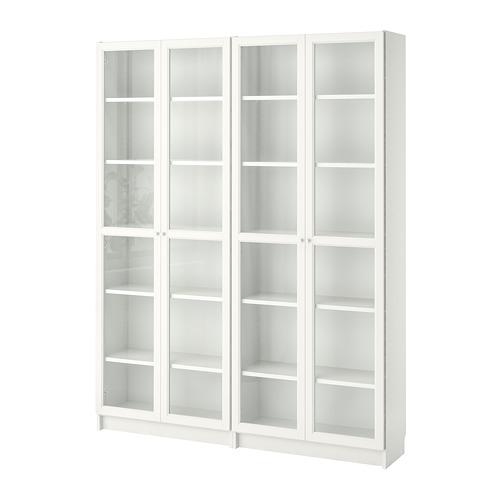 BILLY/OXBERG - rak buku, putih/kaca, 160x30x202 cm | IKEA Indonesia - PE700284_S4