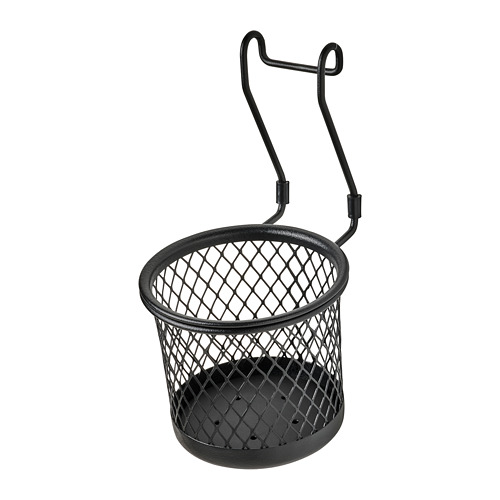 HULTARP - wadah, hitam/jaring, 14x16 cm | IKEA Indonesia - PE795405_S4