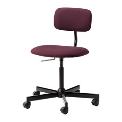 BLECKBERGET - Swivel chair, Idekulla dark red