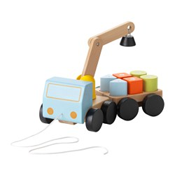 MULA - Crane with blocks, multicolour/beech