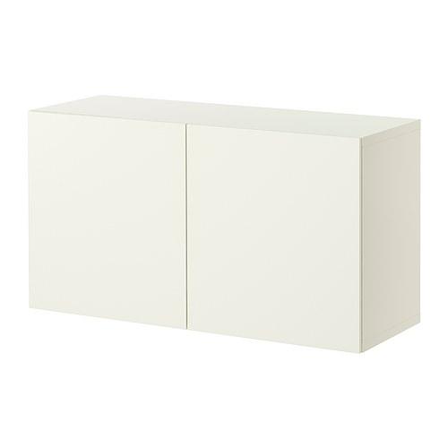 BESTÅ - unit rak dengan pintu, putih/Lappviken putih, 120x42x64 cm | IKEA Indonesia - PE275370_S4