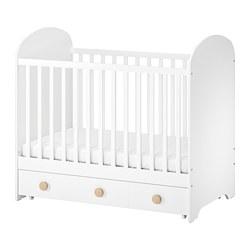 GONATT - Ranjang bayi dengan laci, putih, 60x120 cm