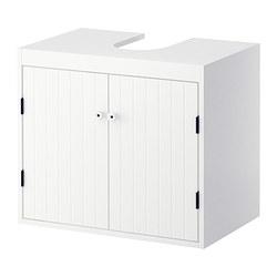 SILVERÅN - Kabinet dasar wasatafel dg 2 pintu, putih