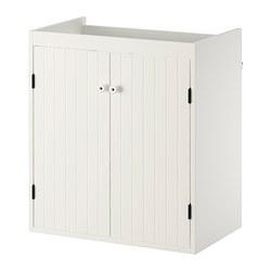 SILVERÅN - Kabinet wastafel dengan 2 pintu, putih