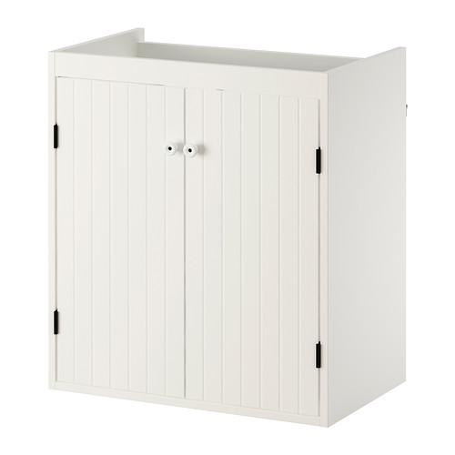 SILVERÅN kabinet wastafel dengan 2 pintu