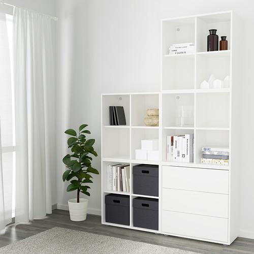EKET - kombinasi kabinet dengan kaki, putih, 140x35x212 cm   IKEA Indonesia - PE617805_S4