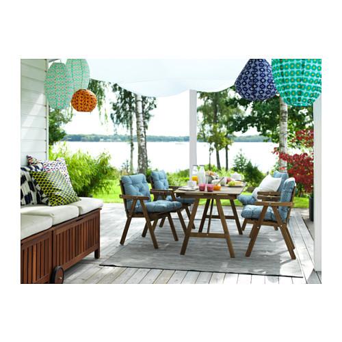 FALHOLMEN - meja, luar ruang, diwarnai cokelat muda, 153x73 cm   IKEA Indonesia - PH139968_S4