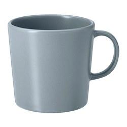 DINERA - Mug, abu-abu biru, 30 cl