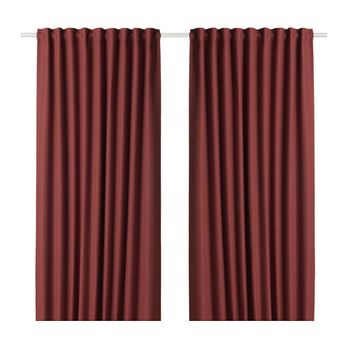 ANNAKAJSA room darkening curtains, 1 pair