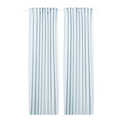 HANNALILL - Curtains, 1 pair, blue