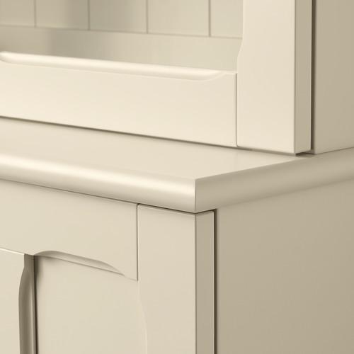 LOMMARP kabinet dengan pintu kaca