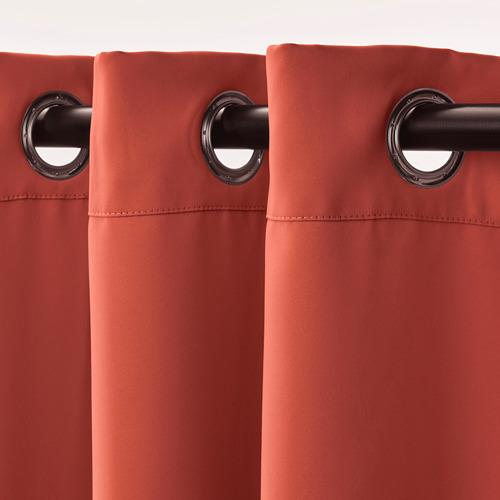 HILLEBORG - gorden penggelap ruangan, 1 pasang, cokelat-merah, 145x250 cm | IKEA Indonesia - PE742855_S4