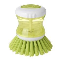 TÅRTSMET - Dish-washing brush with dispenser, green