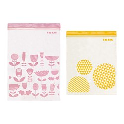 ISTAD - Resealable bag, assorted sizes/assorted colours