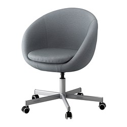 SKRUVSTA - Swivel chair, Vissle grey