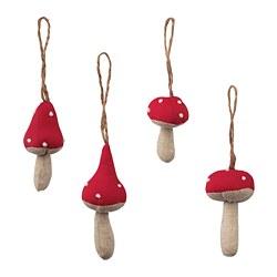 VINTERFEST - Dekorasi gantung, set isi 4, jamur