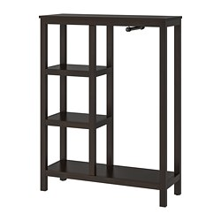HEMNES - Open wardrobe, black-brown
