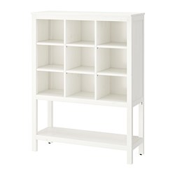HEMNES - Storage unit, white stained