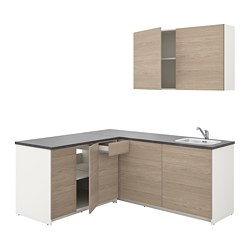 KNOXHULT - Kitchen, wood effect grey