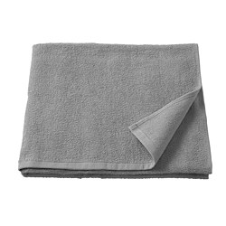 KORNAN - Bath towel, grey